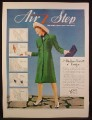 Magazine Ad for Air Step Ladies Shoes, 5 Styles, Minuet Dona Bolay Chelsey Willa, 1941