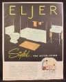 Magazine Ad for Eljer Bathroom Fixtures, Bathtub Toilet Sink, Legation Bath, 1953