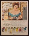 Magazine Ad for Kentucky Club Pipe Tobacco, Kenseal Pouch, 9 Blends, Pin Up Girl, 1956