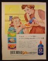Magazine Ad for Bee Hive Golden Corn Syrup, Blue Squeeze Bottle, 1956