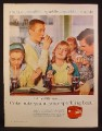 Magazine Ad for Coca-Cola Coke, Teen Boy Flirting with Girl, Dispenser Machine, 1956,