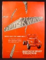 Magazine Ad for Brockway Trucks, Commercial Trucks, 1957