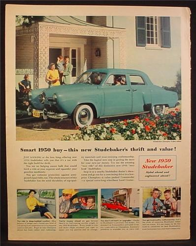 Magazine Ad for 1950 Studebaker Champion 4 Door Sedan, 1950