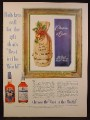 Magazine Ad for Chapin & Gore Bourbon, Old Jim Gore Bourbon in Leather Gift Bag, 1954