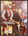 Magazine Ad for Marlboro Cigarettes, Cowboys with Horse in Corral, 1969