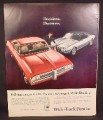 Magazine Ad for Pontiac Cars, Parisienne 2+2 Sport Coupe, Firebird Hardtop Coupe, 1968