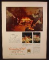 Magazine Ad for Canadian Club Whiskey, Doing the Flaming Limbo in Virgin Islands, 1966