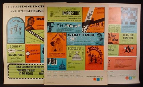 Magazine Ad for CTV Television Network, Showing all The TV Shows, 1966