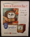 Magazine Ad for General Electric Television, TV, Models 805 & 806, 1949