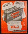 Magazine Ad for Willard Master Duty Battery, 1949