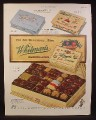 Magazine Ad for Whitman's Sampler Chocolates, Fairhill, Antique Box, 1949