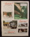 Magazine Ad for Ford Trucks, Used at Marineland in Florida, 1949