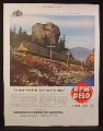 Magazine Ad for Standard Oil, Spokane Portland & Seattle Streamliner No. 1 Train, 1949