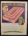 Magazine Ad for Palmer Quilted Mattress, 1936