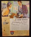 Magazine Ad for Greyhound Bus Lines, Cash Bonus, 1936