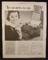 Magazine Ad for Royal Typewriter, World's Number 1, 1936
