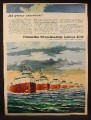 Magazine Ad for Canada Steamship Lines, 7 Ships Shown, 1959