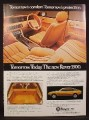 Magazine Ad for Rover 3500 Car, View of Interior, Side View, 1976