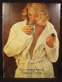 Magazine Ad for Monsieur Rochas After Shave Lotion, Woman with Open Bath Robe, Sexy, 1976