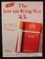 Magazine Ad for John Player King Size Cigarettes, Great Britain, 1976