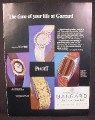 Magazine Ad for Piaget Watches, 4 Models, Garrard Crown Jewellers 1976