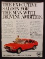 Magazine Ad for Lancia Gamma Berlina Car, Red, Side & Front View, Great Britain, 1979