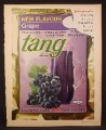 Magazine Ad for Tang, Grape Flavor, Packet, 1967