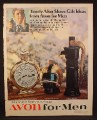 Magazine Ad for Avon For Men, Daylight Shaving Time, Opening Play, Pump, Decanters, 1968