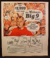 Magazine Ad for Neilson's Chocolate Bars, Big 9 Contest, Gordie Howe, NHL, Celebrity, 1966