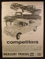 Magazine Ad for Mercury Trucks, Econoline Pickup with 7 Foot Bed, M-250, M-100, M-350, 1961