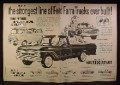 Magazine Ad for Ford Farm Trucks, F-500 Medium Duty, Econoline Window Van F-100, 1960
