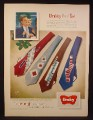 Magazine Ad for Wembley Panel Ties, Men's Fashion, Wide, 4 Patterns, 1948