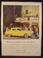 Magazine Ad for Studebaker Land Cruiser Car, Yellow, In Front of Theater, 1948