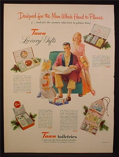 Magazine Ad for Tawn Toiletries, Luxury Gifts, Boxed Sets, 1948
