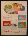 Magazine Ad for Hughes Hair Brushes, Gift Sets, Kits, 1948
