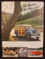 Magazine Ad for Plymouth Cars, Woody Wagon, Station Wagon, Convertible, 1941