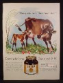 Magazine Ad for Bosco Chocolate Malt Flavored Syrup, Calf & Cow, 1941