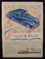 Magazine Ad for Lincoln Zephyr V-12 Car, Blue, The Folks All Love Me, 1941