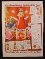 Magazine Ad for Snider's Catsup, Ketchup, The Life Of The Party, 1944