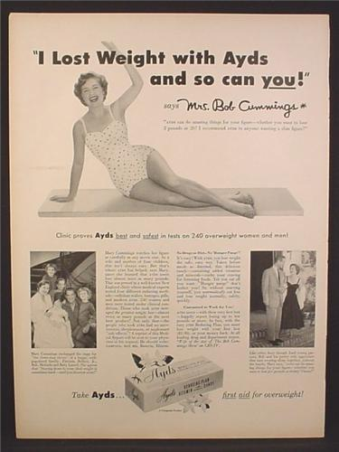 Magazine Ad for Ayds Reducing Plan, I Lost Weight With Ayds, 1956