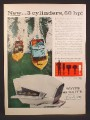 Magazine Ad for Scott-Atwater Flying Scott 60 HP Outboard Motor, Scott Atwater, 1958