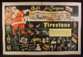 Magazine Ad for Firestone Dealers, Christmas Gifts, Toys, Santa, 1945