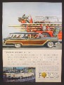Magazine Ad for 59 Ford Cars, Country Squire Station Wagon, Galaxie Club Victoria Thunderbird