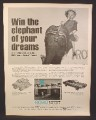 Magazine Ad for Robo Automatic Car Wash, Win The Elephant of Your Dreams, 1970