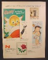 Magazine Ad for Norcross Greeting Cards, King Size, Queen Size, Sentimental, 1958