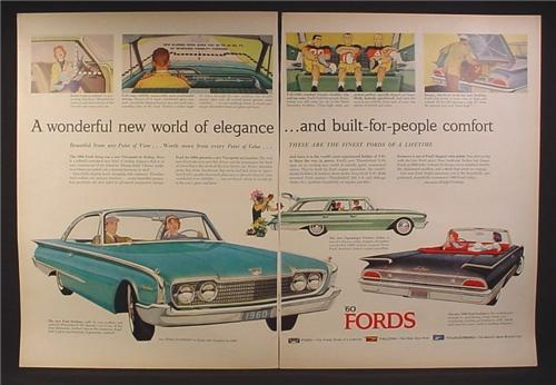 Magazine Ad for Ford Cars, Starliner, Country Sedan Station Wagon, Sunliner, 1959