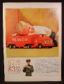 Magazine Ad for Buddy L Texaco Metal toy Truck Offer, Buddy-L, 1959