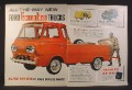 Magazine Ad for Ford Econoline Trucks, Pickup, Van, Station Bus, 1960, Double Page Ad