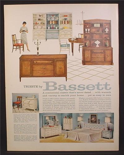 Magazine ad for bassett furniture hutch shelves bedroom for P s furniture flyer