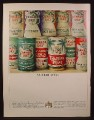 Magazine Ad for Canada Dry, 11 Different Cans, Tahitian Treat, Hi-Grape, Orange Soda, 1964